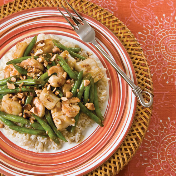 Shrimp and Scallops with Cashews