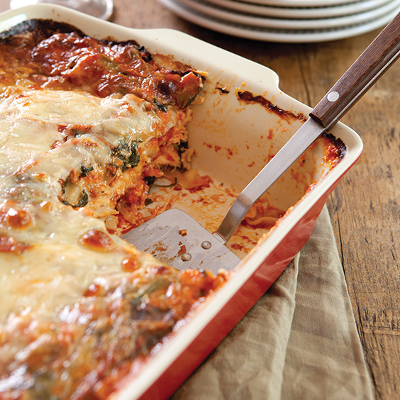 chicken and vegetable lasagna