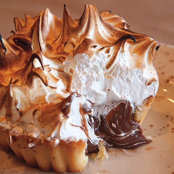 chocolate tart at Ollie Irene in Birmingham, Alabama