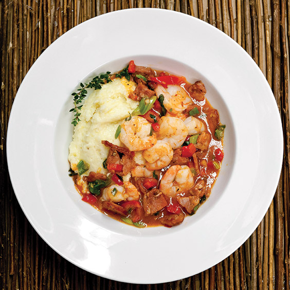 shrimp and grits from Amos Mosquito's on the Crystal Coast of North Carolina