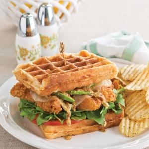Chicken And Waffle Sandwiches Paula Deen Magazine