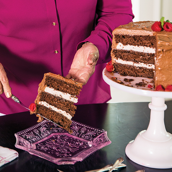 Chocolate Cake With Raspberry Mousse Filling Paula Deen