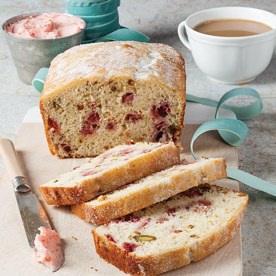 strawberry pistachio bread