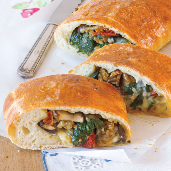Spinach, and Mushroom Calzones