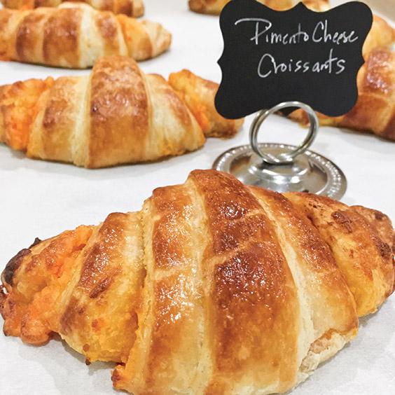 Pimiento Cheese Croissants from Villani's Bakery in Concord, North Carolina