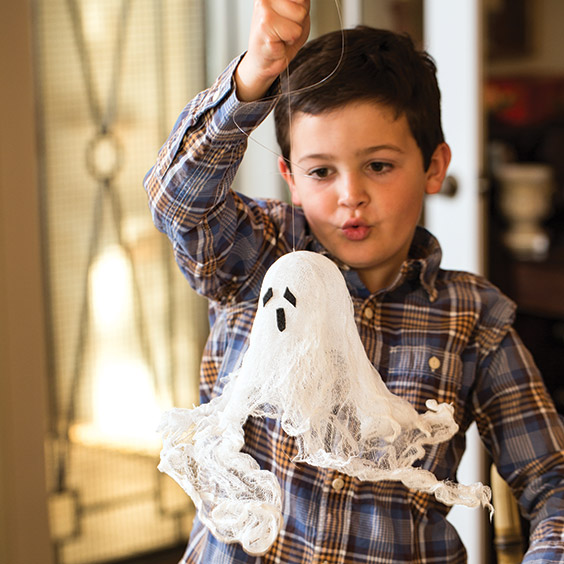 crafting halloween ghosts