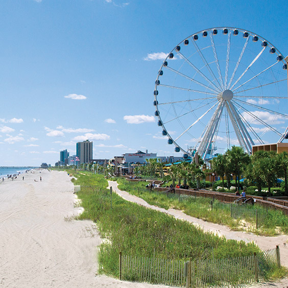 the Skywheel in Myrtle Beach, South Carolina, along the Grand Strand