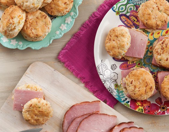 cheese biscuits with ham