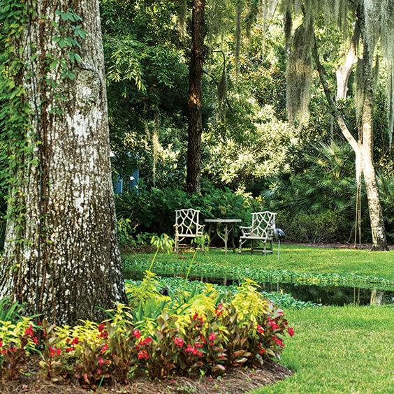 Paula Deen's garden