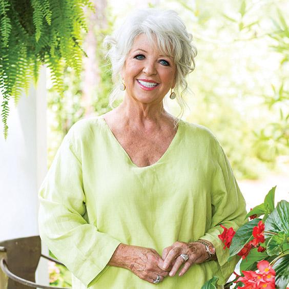 Paula Deen in her garden