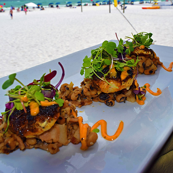 grouper cheeks from The Black Pearl on Okaloosa Island, Florida