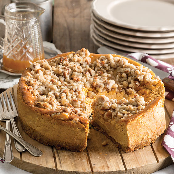 Autumn Sweets pumpkin streusel cheesecake