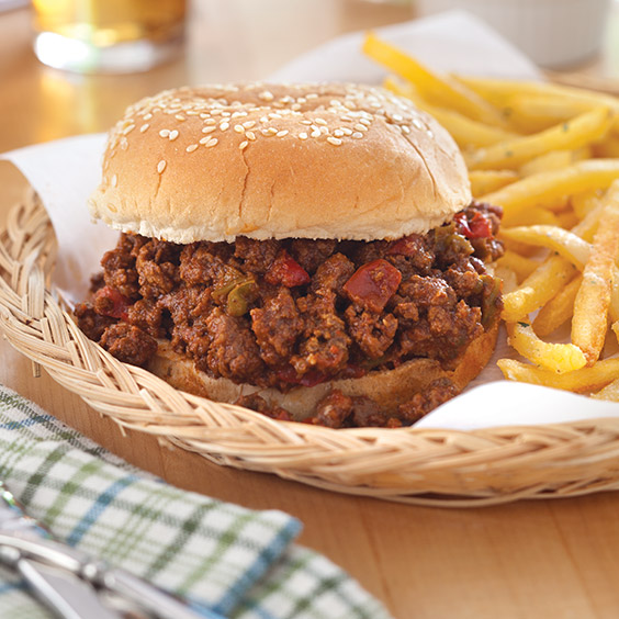 Enjoy these Make-Ahead Sloppy Joes with a side of fries or chips for a convenient and delicious meal.