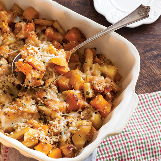 Butternut Squash and Parsnip Gratin