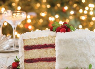 Coconut–Cranberry Cake