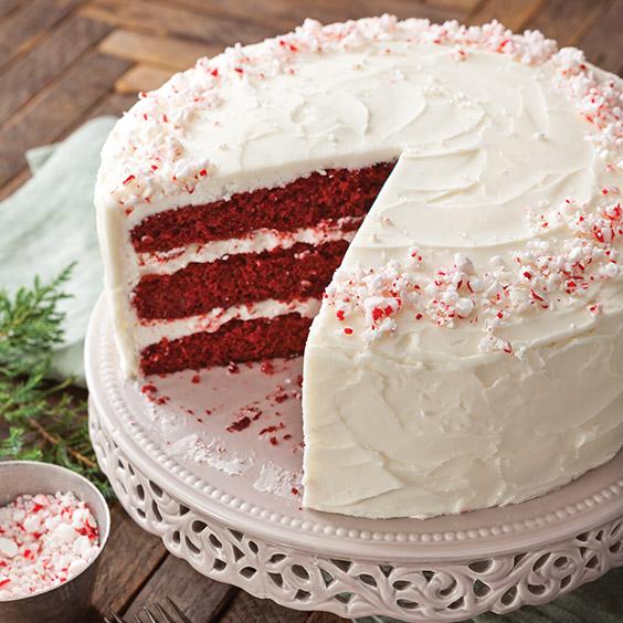 Red Velvet Cake with Peppermint Buttercream