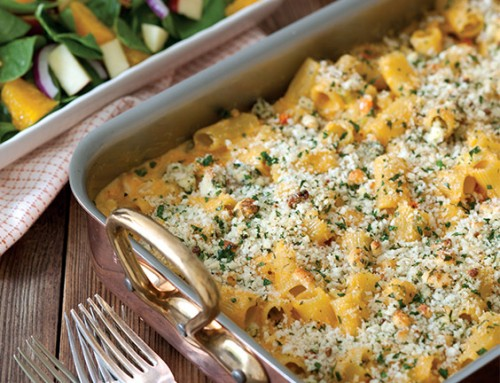 Buffalo Chicken Pasta Bake
