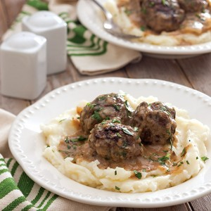 Gravy-Smothered Meatballs ground beef