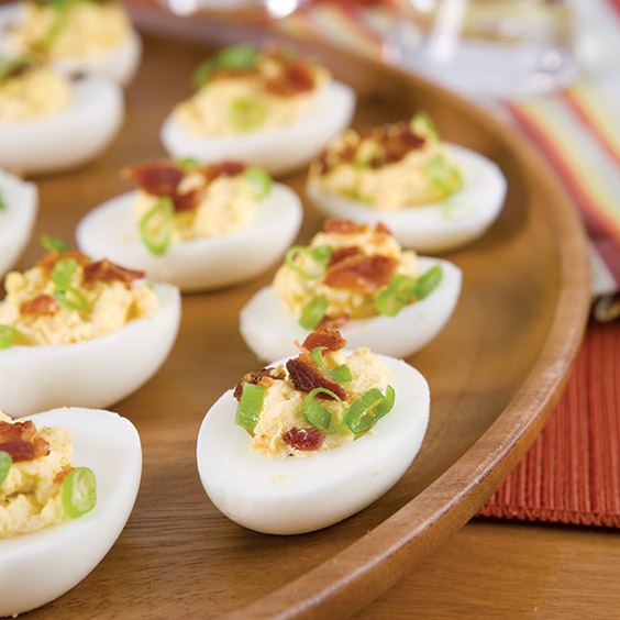 Loaded Bacon Deviled Eggs