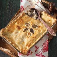 chicken cordon bleu pot pie