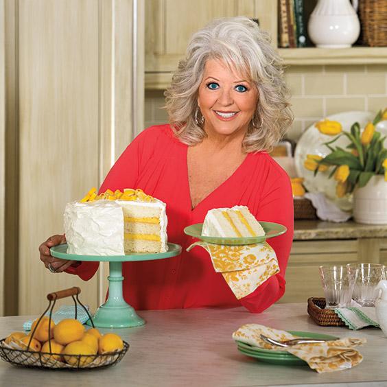 Paula Deen with Luscious Lemon Cake; layer cakes