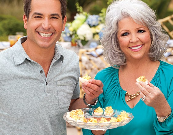 Paula and Bobby Deen with deviled eggs