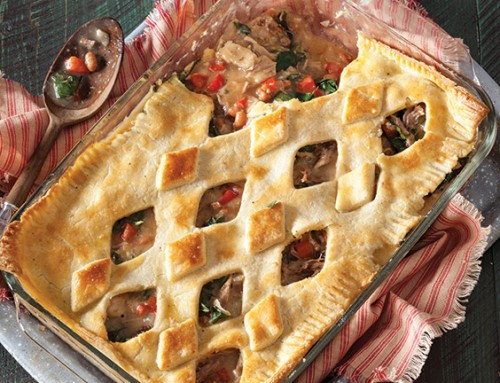 Smoked Pork and Collard Greens Pot Pie
