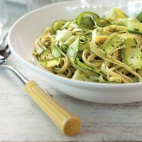 Fettuccine with Zucchini Ribbons