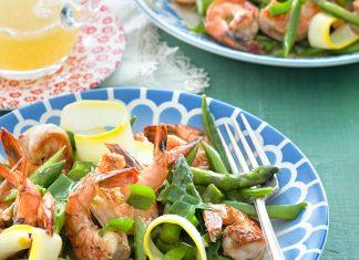 Shrimp, Asparagus, and Sugar Snap Pea Salad