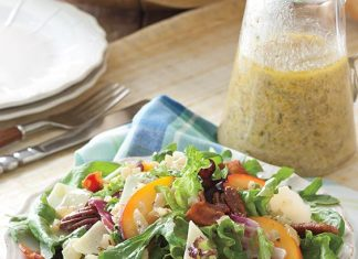 Peach-Pecan-Salad-with-Visalia-Onion-Dressing
