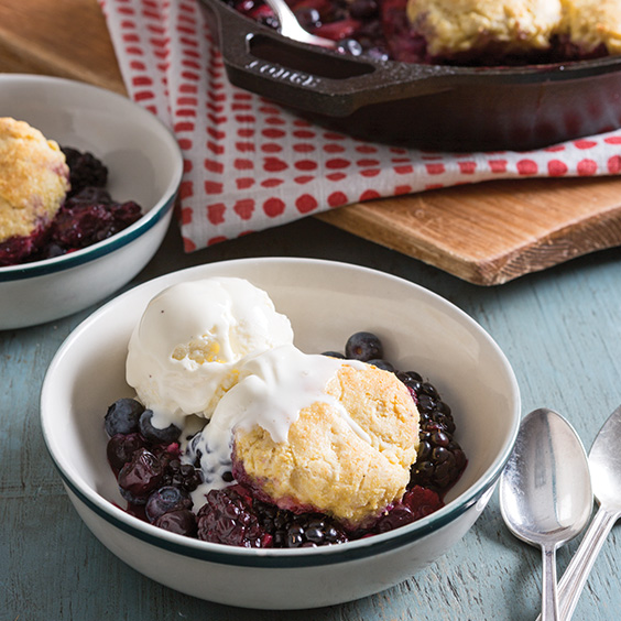 Berry Cobbler with Cornmeal Biscuits