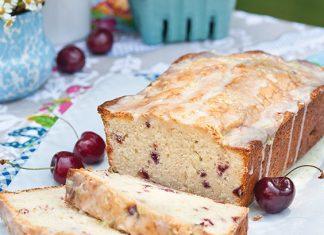Glazed Cherry-Lime Pound Cakes