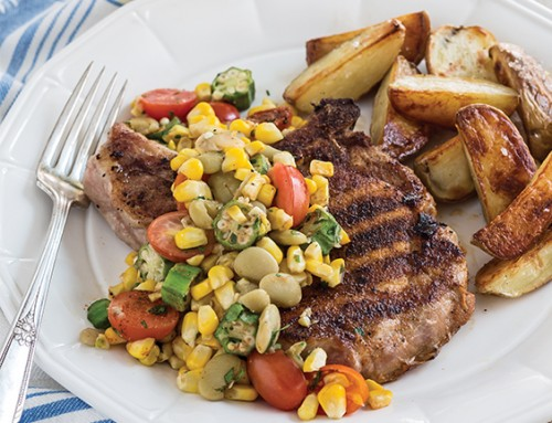 Grilled Pork Chops with Summer Succotash