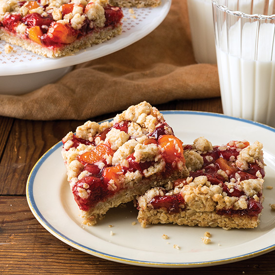 Cherry Apricot Crumb Bars