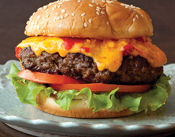 Pimiento Cheese-Topped Cheeseburgers