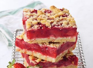 Strawberry Lime Bars