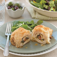 Phyllo-Wrapped Greek-Stuffed Chicken