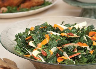 Kale, Apple, and Cranberry Salad