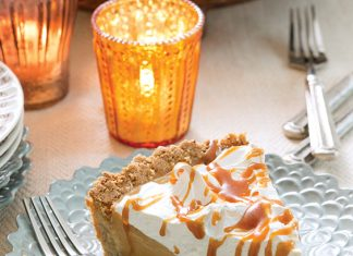 Salted Caramel Custard Tart with Toasted Meringue
