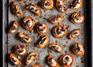 Sweet Potato and Goat Cheese Bites