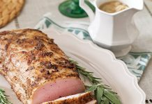 Roasted Pork Loin with Onion Gravy
