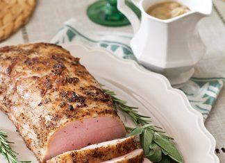 Roasted Pork Loin with Onion Gravy