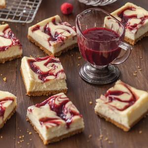 Raspberry Swirl Cheesecake Bars Paula Deen Magazine