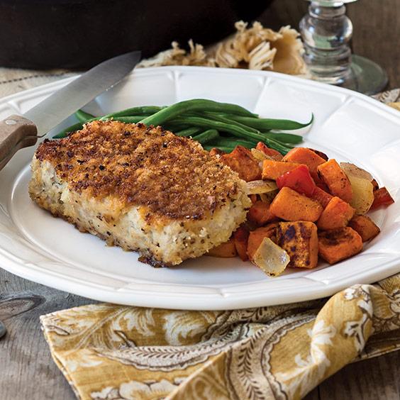 Oven Fried Pork Chops With Sweet Potato Paula Deen Magazine