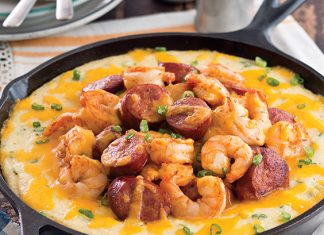 Baked Creole Shrimp and Grits