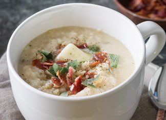 Sage and Bacon Rice Grits