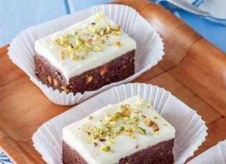 Orange-Pistachio Brownies