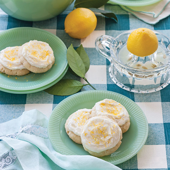 Frosted Lemon Sugar Cookies