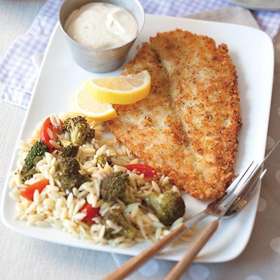Pan-Fried Flounder with Creamy Lemon Sauce