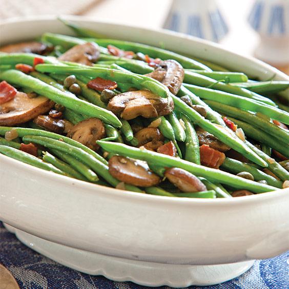 Mushroom-Bacon Green Beans